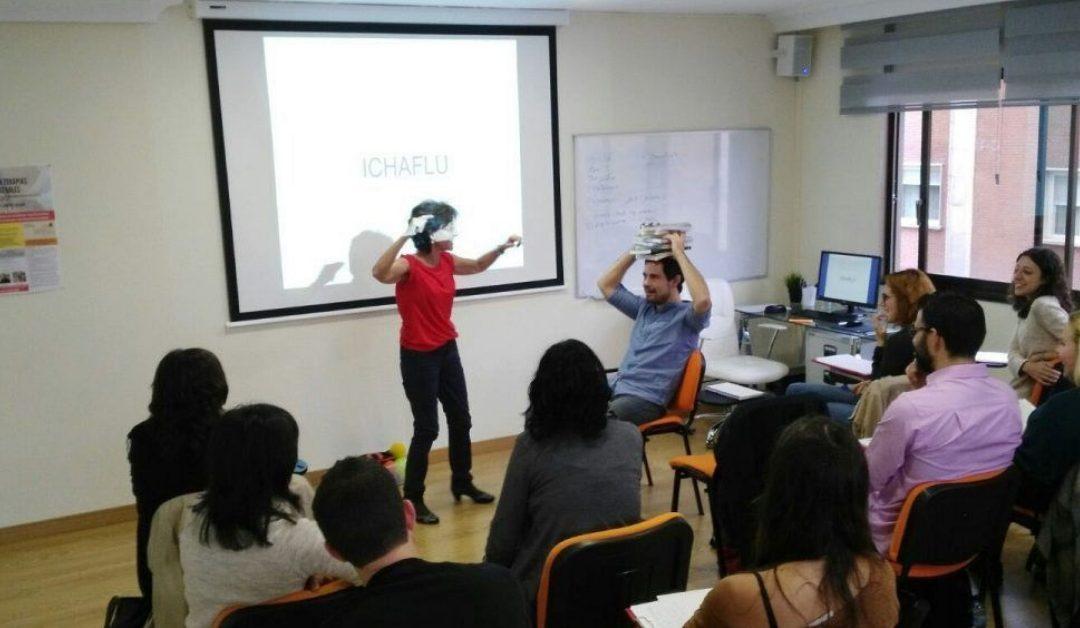 Carmen Luciano, Marino Pérez y M. Ángel Vallejo: Sesión de Máster en Terapias Contextuales