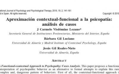 Primer artículo que aborda la psicopatía desde la perspectiva contextual-funcional